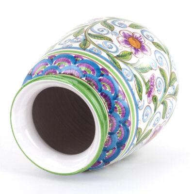 Vaso Ornamentale in Ceramica siciliana Decorato a Mano