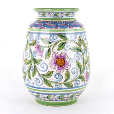 Vaso Ornamentale in Ceramica siciliana Decorato a Mano1
