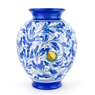 Vaso ornamentale decorato a mano in ceramica di Caltagirone
